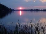 Západ slunce z břehu