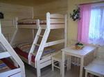 Chalet A Interieur - Betten, Tisch